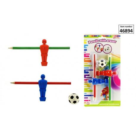 Ołówki z Gumkami Piłka Nożna