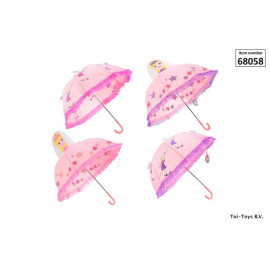 3D Umbrella princess/fairy Ø 70 cm 4-ass.