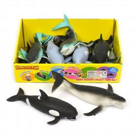 Rozciągliwe stwory morskie z groszkiem 1z4 wzorów 12,5cm