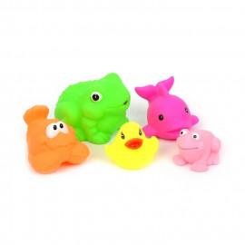Tryskające zabawki do kąpieli 5 sztuk 6-10cm