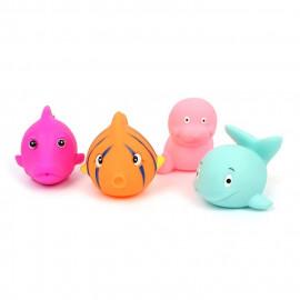 Tryskające zabawki do kąpieli 4 sztuk 7-9cm