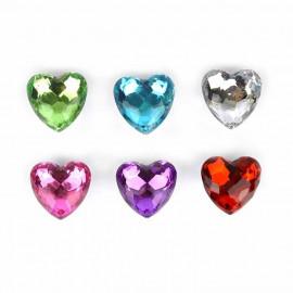 Diamentowe serce 1z6 wzorów 4cm