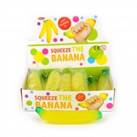SQUEEZE BANANA TRANSPARENT 18cm