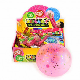 BALLOON JELLY GLITTER 4ass 6-25cm