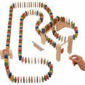 Drewniane domino konstrukcyjne - Wooden Domino Race