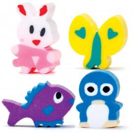 Mini gumki do ścierania - Zwierzęta