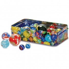 MARBLES IN A TIN