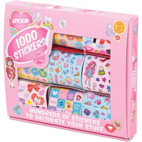 1000 naklejek dla dziewczynki