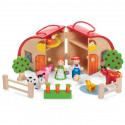 Drewniana farma - Wooden Farm Playset