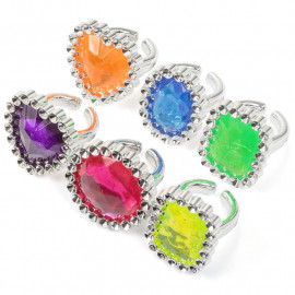 FANCY GEM RINGS - PK6