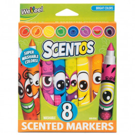 SCENTOS FUNNY FACE MARKERS 8PK