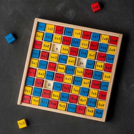 Drewniana tabliczka mnożenia - nauka