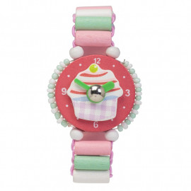 Wooden Cupcake Watch
