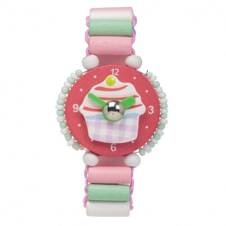 Wooden Cupcake Watch