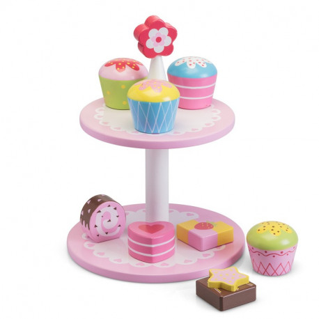 Wooden Flower Cake Stand