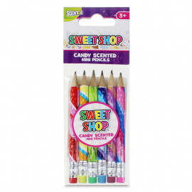 Sweet Shop Mini Pencils 6Pk