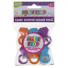 SWEET SHOP ERASER RINGS 6PK