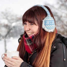 EARMUFF HEADPHONES - FAIR ISLE BLUE