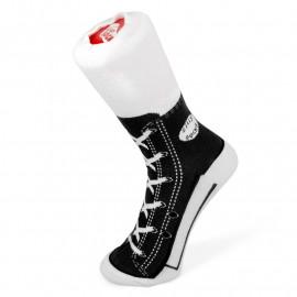 SNEAKER SOCKS BLACK SIZE 1-4 S/O