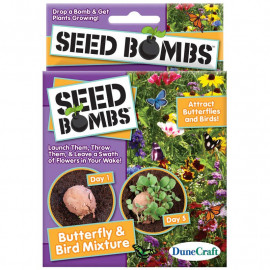 BUTTERFLY AND BIRD SEED BOMBS