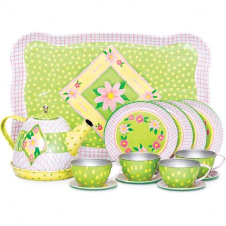 Zabawkowy serwis do herbaty - Kwiaty