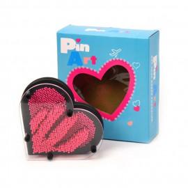 Pin Art plastikowy obraz szpilkowy, serce 16cm