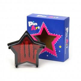 Pin Art plastikowy obraz szpilkowy, gwiazdka 17cm