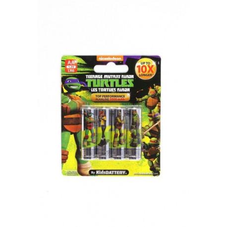 Wojownicze Żółwie Ninja - Baterie Alkaliczne Paluszki AA – 4szt