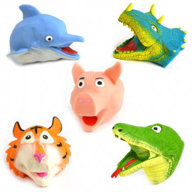 HAND PUPPET ANIMAL 6ass 12cm