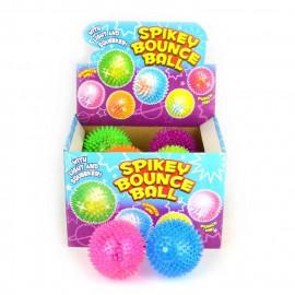 Piłka z kolcami wydająca dźwięki 1z6 wzorów, 9,5cm