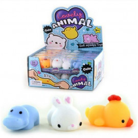 GEL SQUEEZE ANIMAL 2pcs 3ass 4cm