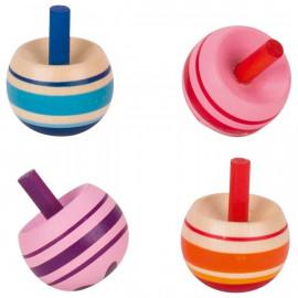 Małe drewniane bączki (różne kolory) 2