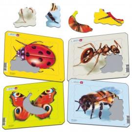 Mini puzzle owady 5el. 18Cm