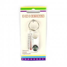 brelok 3w1 – kompas termometr lupa – 5cm