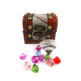 PIRATE TREASURE CHEST DIAMONDS 37pcs 8cm