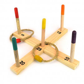 RING TOSS GAME WOODEN 12pcs 42x42x19