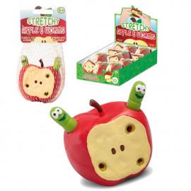 Zarobaczone jabłko - rozciągliwe