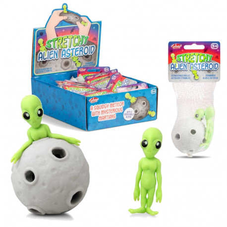 STRETCHY ALIEN AND ASTEROID