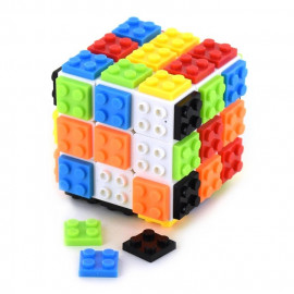 CUBE BUILDING BLOCKS 3X3X3 1+54pcs 6cm
