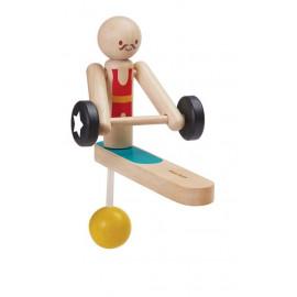 Drewniany Akrobatyk Podnoszacy ciężary
