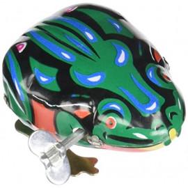 Skacząca żabka do nakręcania,Blaszana, metalowa