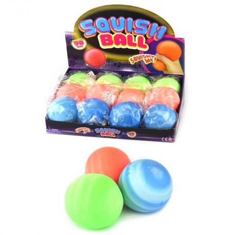 BALL SQUISH 3ass 9cm