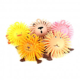 PUFFER BALL ANIMAL 6ass 10cm