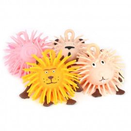 PUFFER BALL ANIMAL 4ass 8cm