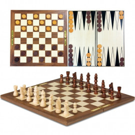 3 IN 1 CLASSIC WOODEN GAMES