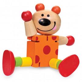 Drewniane zwierzęta na gumkach