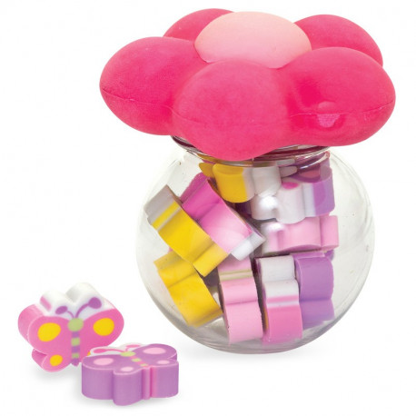 MINI FLOWER AND BUTTERFLY ERASERS