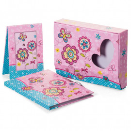 FLOWER DIARY AND PHOTO FRAME SET