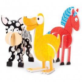 Zwierzęta z puzzli 3D - PUZZLE PALS