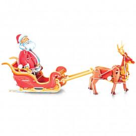 CHRISTMAS CLOCKWORK SANTA AND SLEIGH